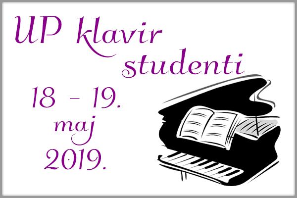 Uoredni klavir - studenti