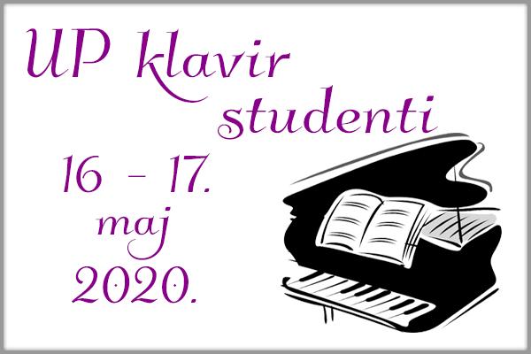 UP klavir - studenti